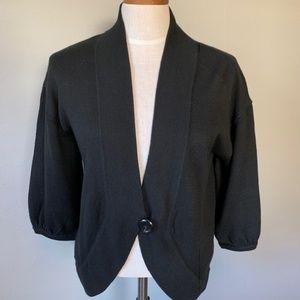 Ann Taylor Black 3/4 Sleeve Cardigan Size Small